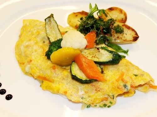 Gemüse-Käseomelette
