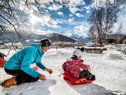Kinderbetreuung im Winter
