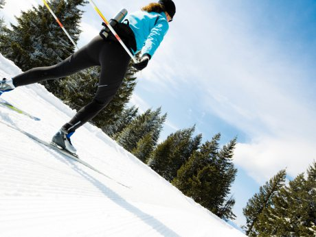 Cross-country skiing with a twist
